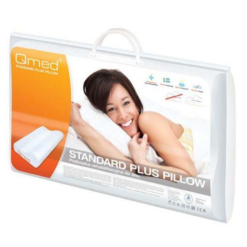 Подушка ортопедическая под голову Qmed Standard Plus