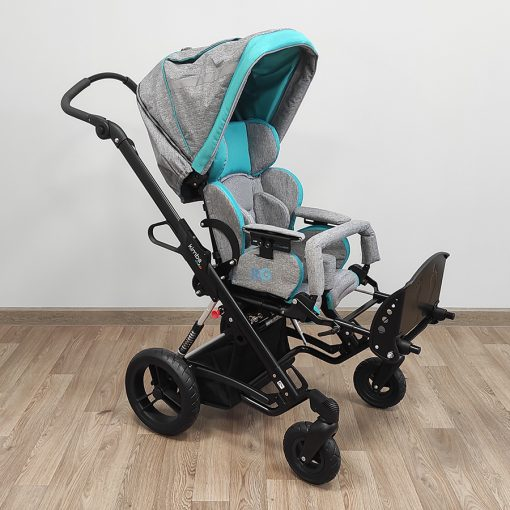 Кресло-коляска прогулочная для детей ДЦП Кимба Нео. Подголовник встроенный