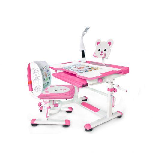 Комплект парта и стульчик Mealux BD-04 New Teddy (с лампой)