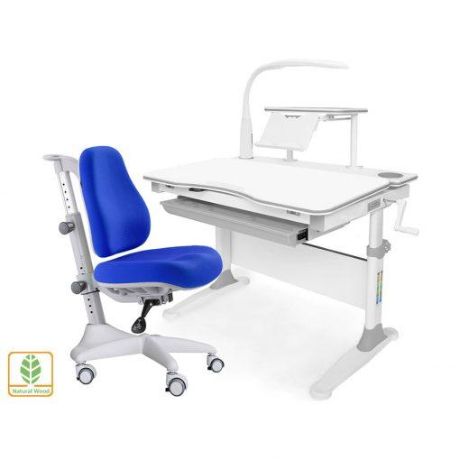 Комплект парта и кресло Mealux EVO-30 (с лампой) (дерево)